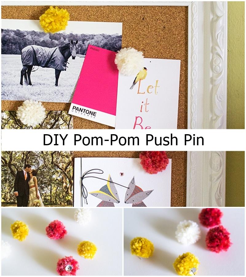 DIY Pom-Pom Push Pin