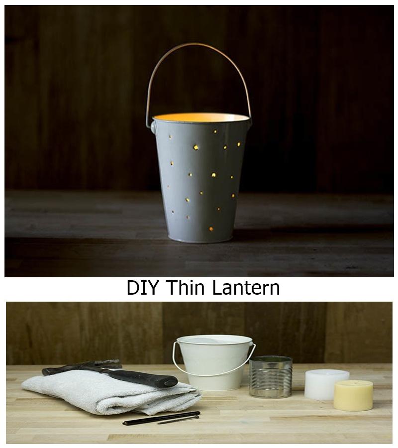 DIY Thin Lantern