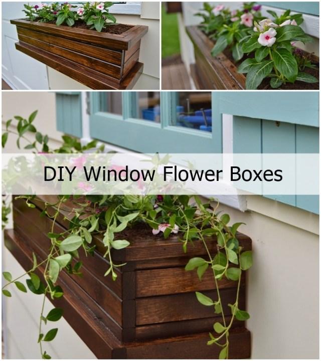 DIY Window Flower Boxes