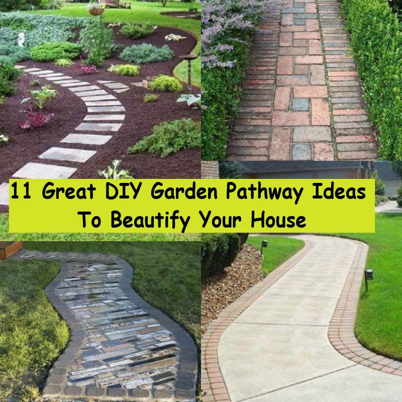 11 Great Diy Garden Pathway Ideas To Beautify Your House Godiygo Com