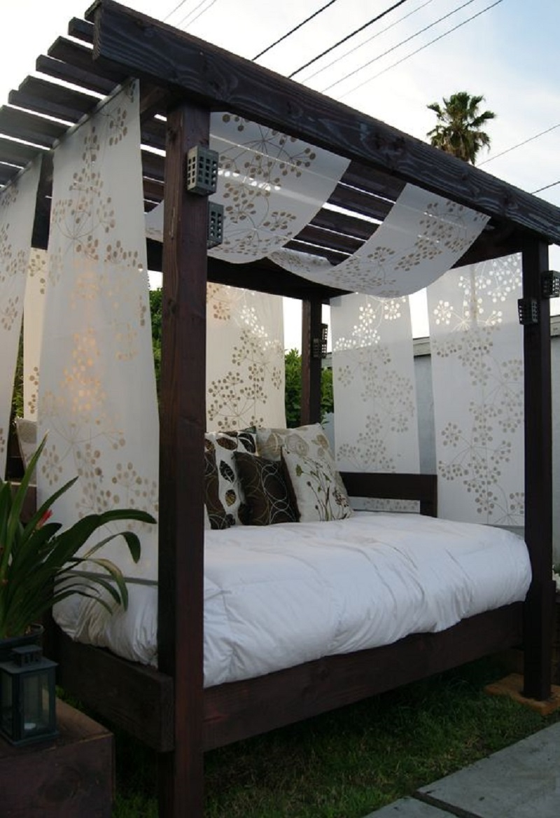 Cabana for the backyard with an old