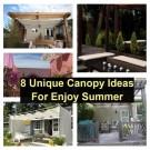 8 unique canopy ideas for enjoy summer
