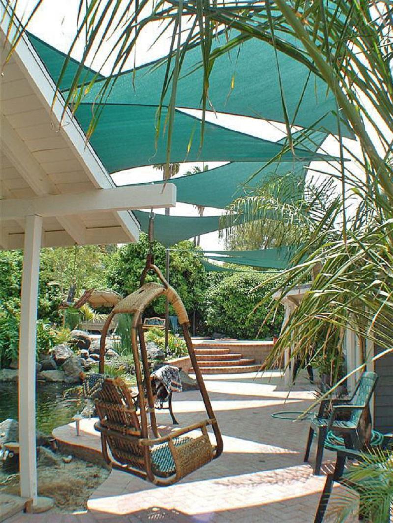 Hang shade sails