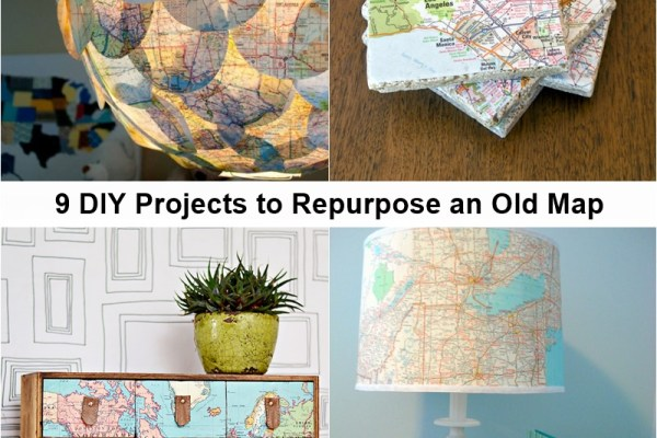 9 DIY Projects to Repurpose an Old Map