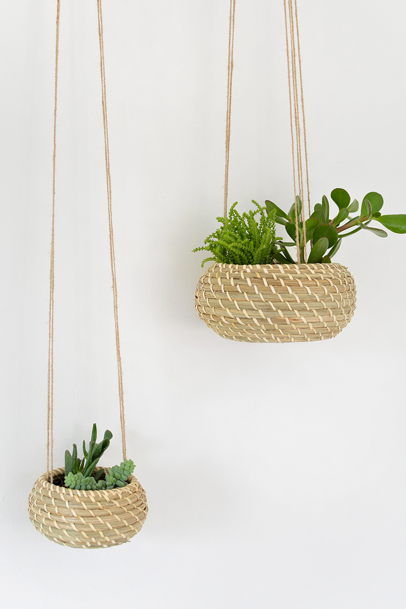 Diy sea grass hanging planters