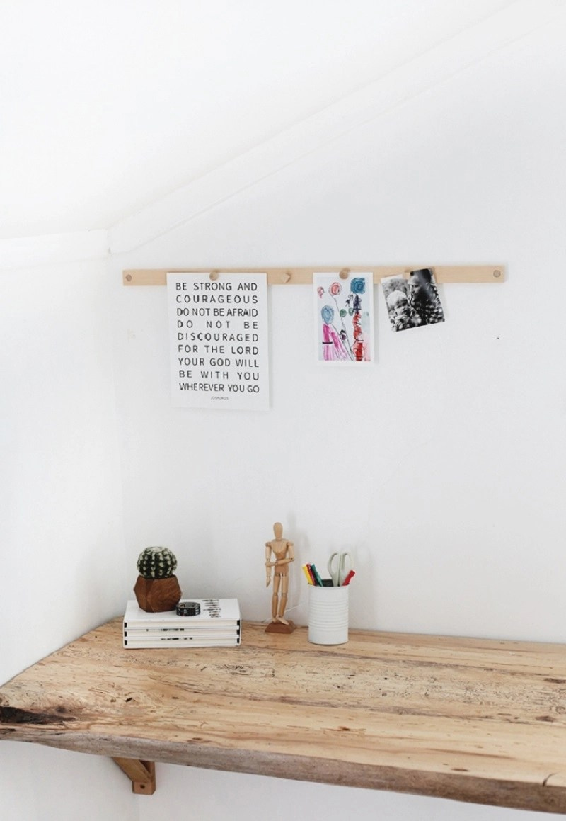 Make your room looks tidier by putting some of your projects at magnetic display rail. It helps you to save your children's drawings, photos, or other things into a better arrangement. You don't have to have more space, because it only needs some parts of your wall. The good news is that this magnetic display rail can be made by you. Here they are some inspirations to try; http://themerrythought.com/diy/diy-magnetic-display-rail/ Here, you need to prepare pine board first. After that by using saw and cut the pine board to place a long magnet inside. With screwdriver you can make the hole and adhere it to the wall using nails. Next, this magnetic display rail is ready to use. http://www.theartofed.com/2012/03/07/a-faster-way-to-display/ This is the simplest way to display your student paper on the wall. It doesn't require much budget and less money to create this gallery. This trap ease rail helps you as a teacher to display all your student creativity project s on the wall. https://www.marthastewart.com/273455/picture-rail Your children artwork will be save by putting on this bulletin-board picture hang on the hallway. It is not only functions as storage but also gives the hallway aesthetic value. Just make your own boards from inexpensive lightweight materials and cover it with fabric. https://www.apartmenttherapy.com/how-to-hang-art-down-a-long-ha-101754 Prepare a row of painted boards and simple clips to change your children artwork display. Those artworks will against the wall and show their artistic value. One day, you will love this picture more than anything in your house. https://www.apartmenttherapy.com/julie-and-jespers-musical-scandi-canadian-nest-house-tour-172204#gallery/38118/16 Rather than put on your photos on the album, it will be better for you to display them with timber rails, nails and paper clips. It looks simple and easy to see, even by your guest. Just try this simple project this weekend! https://www.crateandbarrel.com/white-gallery-art-rail/f79365#fromNod Let your children see how the result of their artwork by this magnetic display rail. It has three parts which save their artwork by using magnet. You only have to mix and match the color to make more artistic. http://lostbuttonstudio.blogspot.co.id/2014/04/art-display-racks-tutorial.html Do it by yourself at home this weekend. This simple project only needs board, pine board and other simple carpentry tools. By this page board, you can easily save your children artwork and display it at their room. https://id.pinterest.com/pin/257197828695233463/ Well, it is time for using a half of wall for displaying your children artwork. Prepare cork board, chalk, and magnet. Then, let your children do any projects on the wall as they like. Don't be worry, because they will give astonishing result.