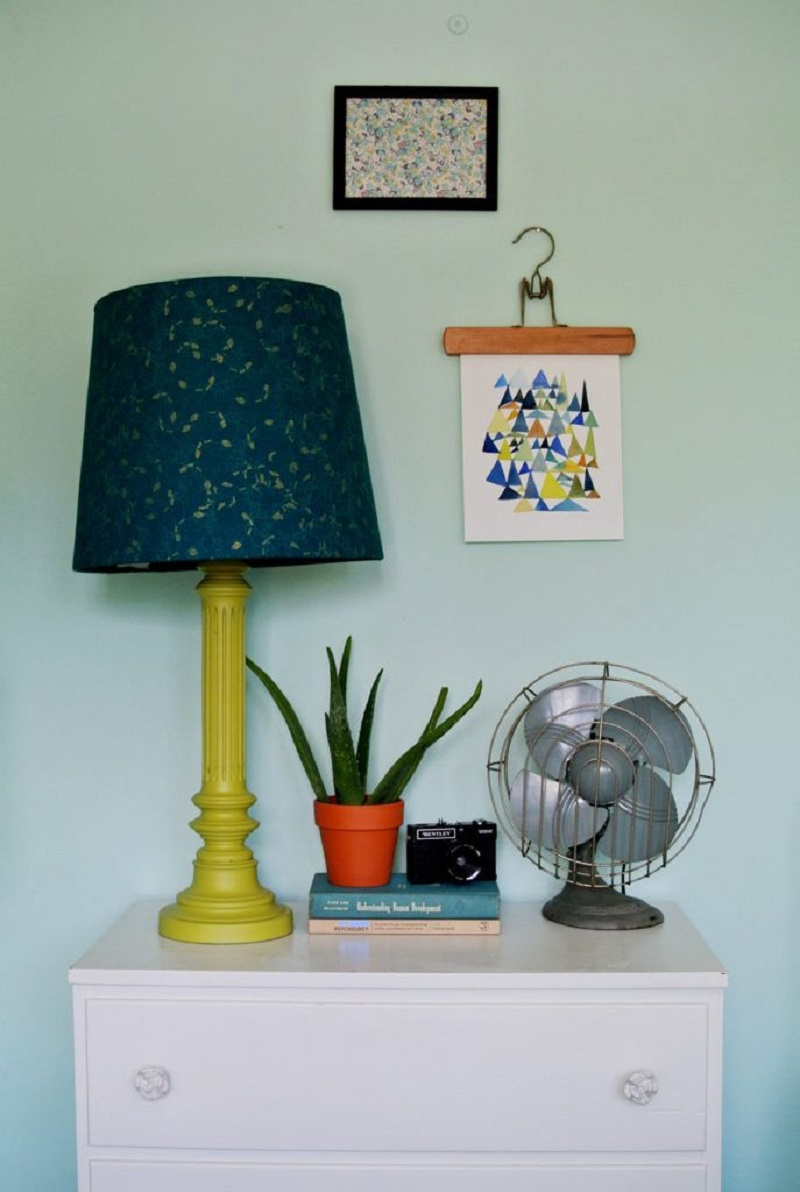 Fabric cover lampshade