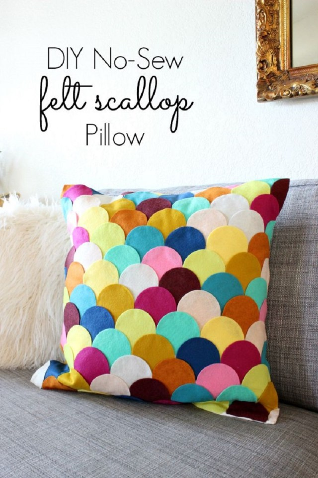 Scalloped-pillow