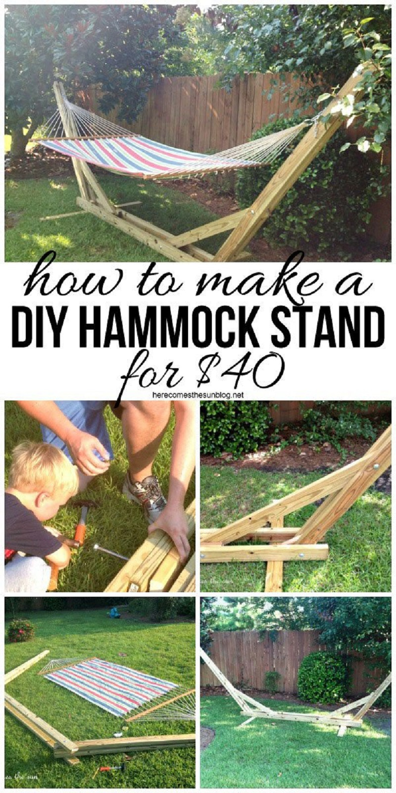 Diy crafter's hammock stand