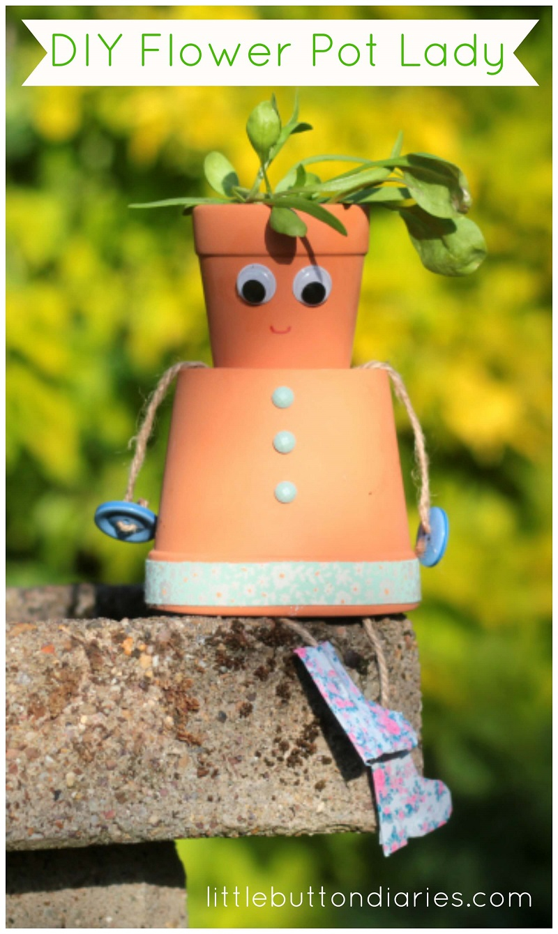 Fun kids craft with flower pots