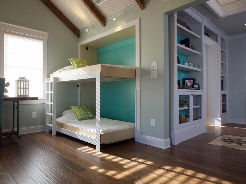 Twin bunks that stow away