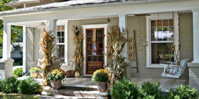 Awesome farmhouse fall decor porches 03
