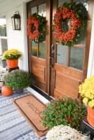 Awesome farmhouse fall decor porches 22