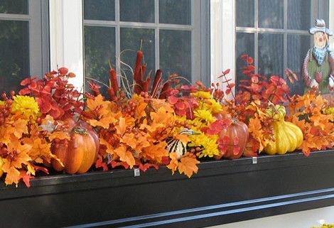 Cheap and easy fall window boxes ideas 01