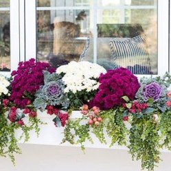 Cheap and easy fall window boxes ideas 13