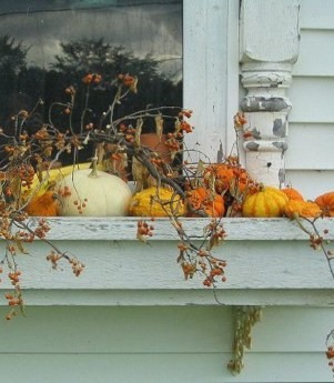 Cheap and easy fall window boxes ideas 15