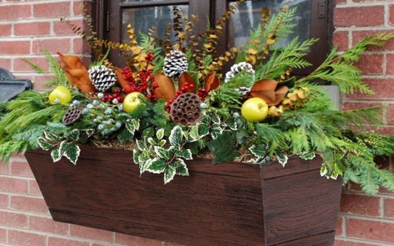 Cheap and easy fall window boxes ideas 17