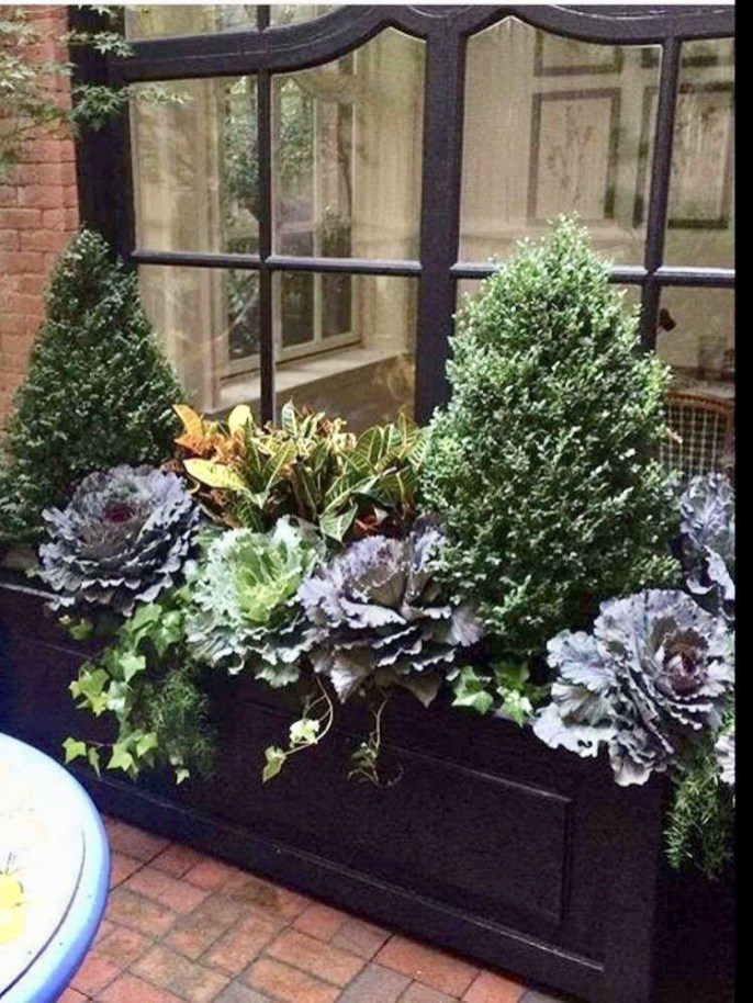 Cheap and easy fall window boxes ideas 18