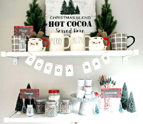 Cute farmhouse christmas decoration ideas 12