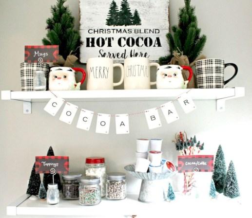 Cute farmhouse christmas decoration ideas 12