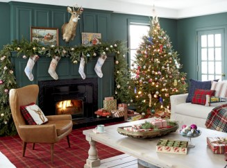 Cute farmhouse christmas decoration ideas 39