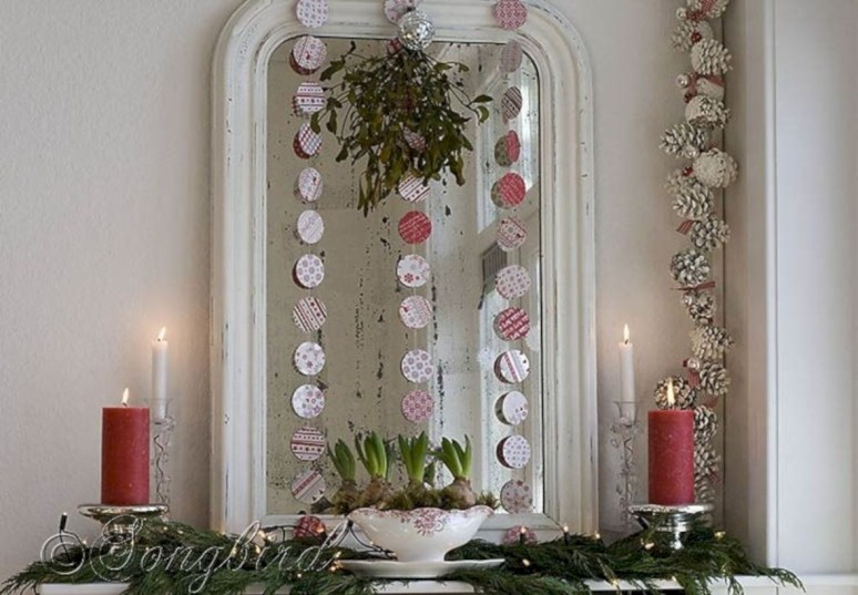 Cute farmhouse christmas decoration ideas 45