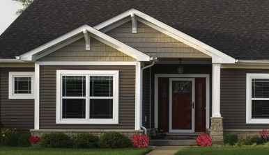 Exterior paint colors for house with brown roof 14