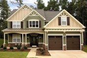 Exterior paint colors for house with brown roof 15