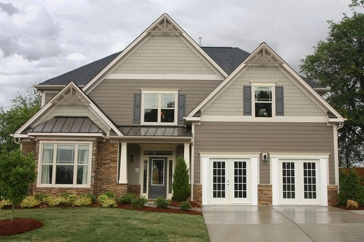Exterior paint colors for house with brown roof 26
