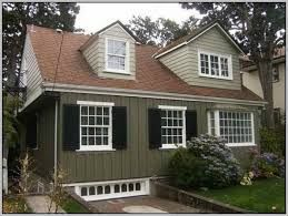 Exterior paint colors for house with brown roof 34