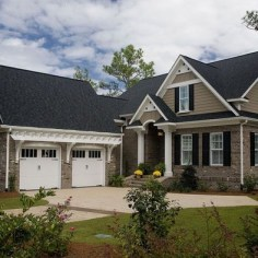 Exterior paint colors for house with brown roof 35