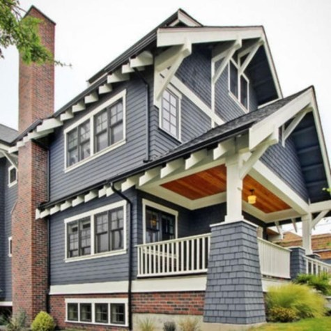 Exterior paint colors for house with brown roof 52