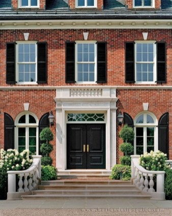 Exterior paint colors with red brick 27