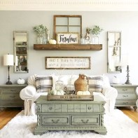 Incredible european farmhouse living room design ideas 15