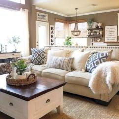 Incredible european farmhouse living room design ideas 81