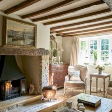 Incredible european farmhouse living room design ideas 96