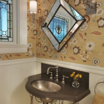 Incredible half bathroom decor ideas 34