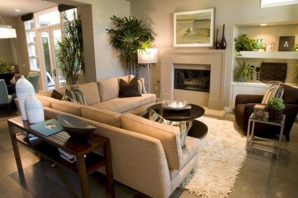 Inspiring living room layouts ideas with sectional 07