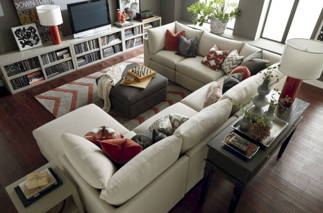 Inspiring living room layouts ideas with sectional 27