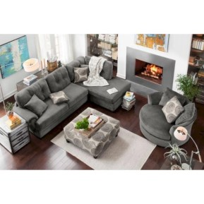 Inspiring living room layouts ideas with sectional 36