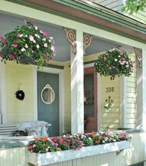 Rustic farmhouse front porch decorating ideas 04