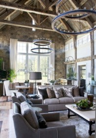 Rustic farmhouse living room decor ideas 18