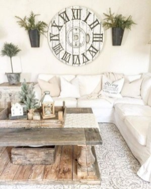 Rustic farmhouse living room decor ideas 30