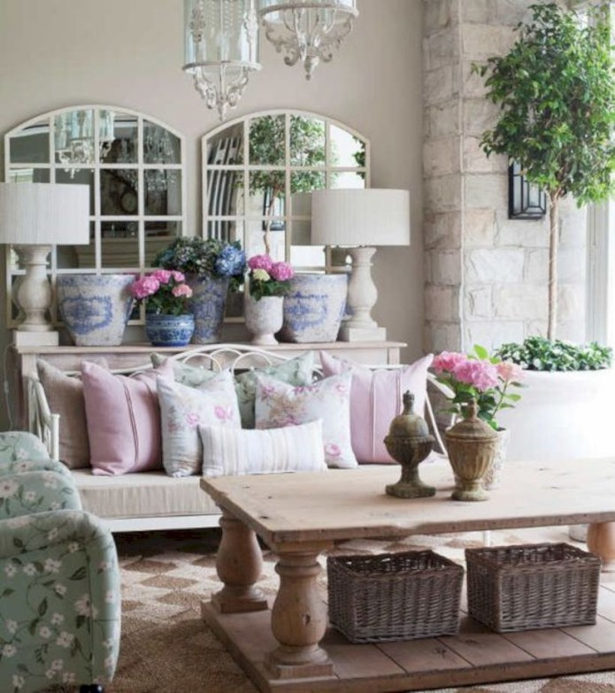 Rustic farmhouse living room decor ideas 34