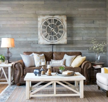 Rustic farmhouse living room decor ideas 35