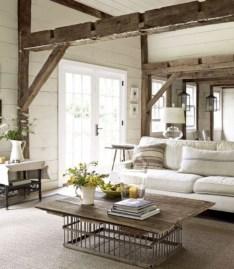 Rustic farmhouse living room decor ideas 36