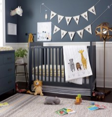 Unique baby boy nursery room with animal design 01