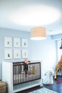 Unique baby boy nursery room with animal design 07