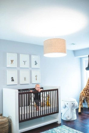 Unique baby boy nursery room with animal design 07