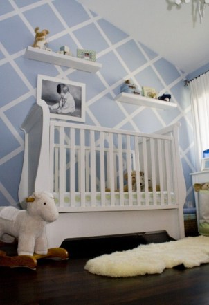Unique baby boy nursery room with animal design 09